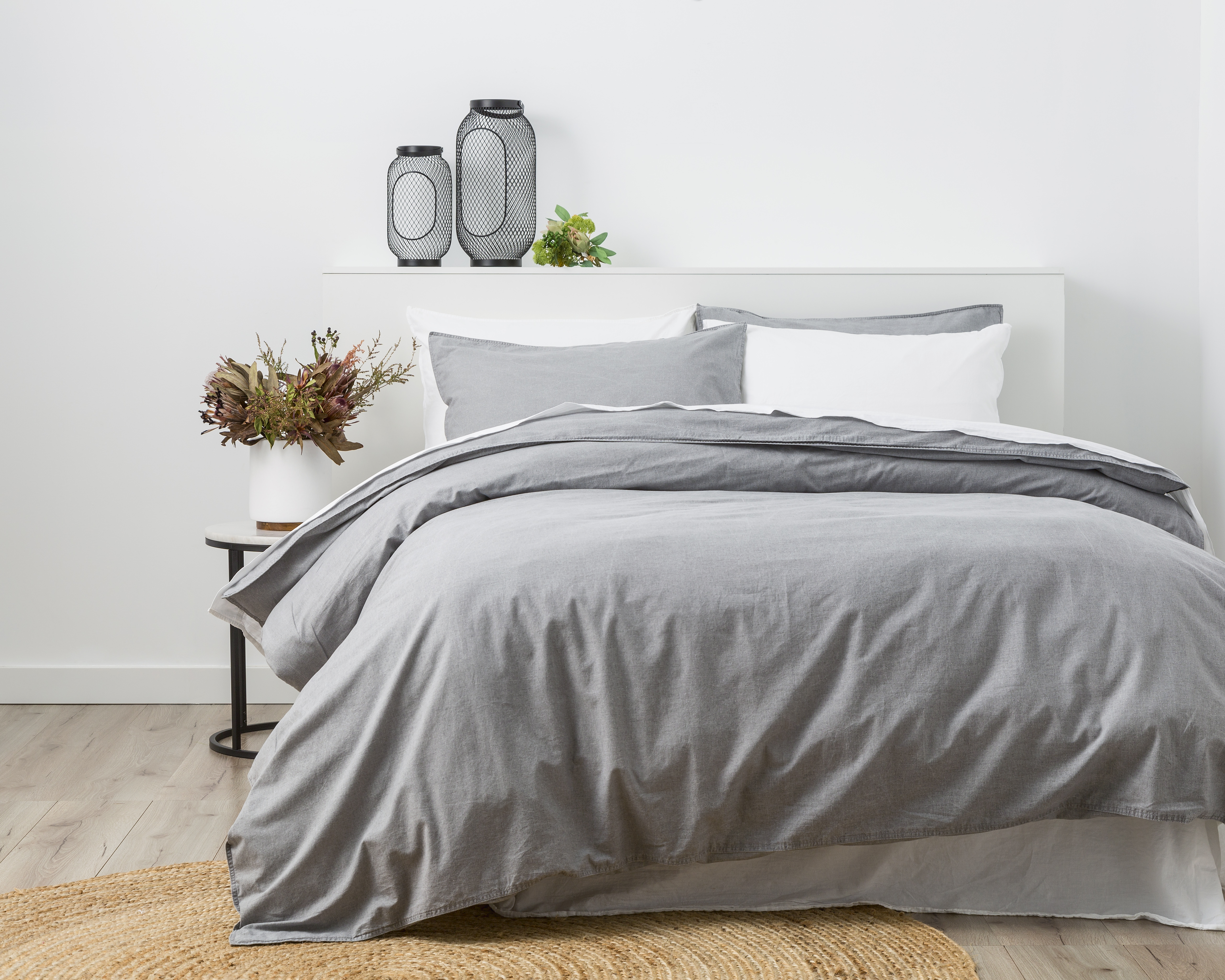 In2linen Stone Wash Quilt Cover Set | Grey | NEW RANGE