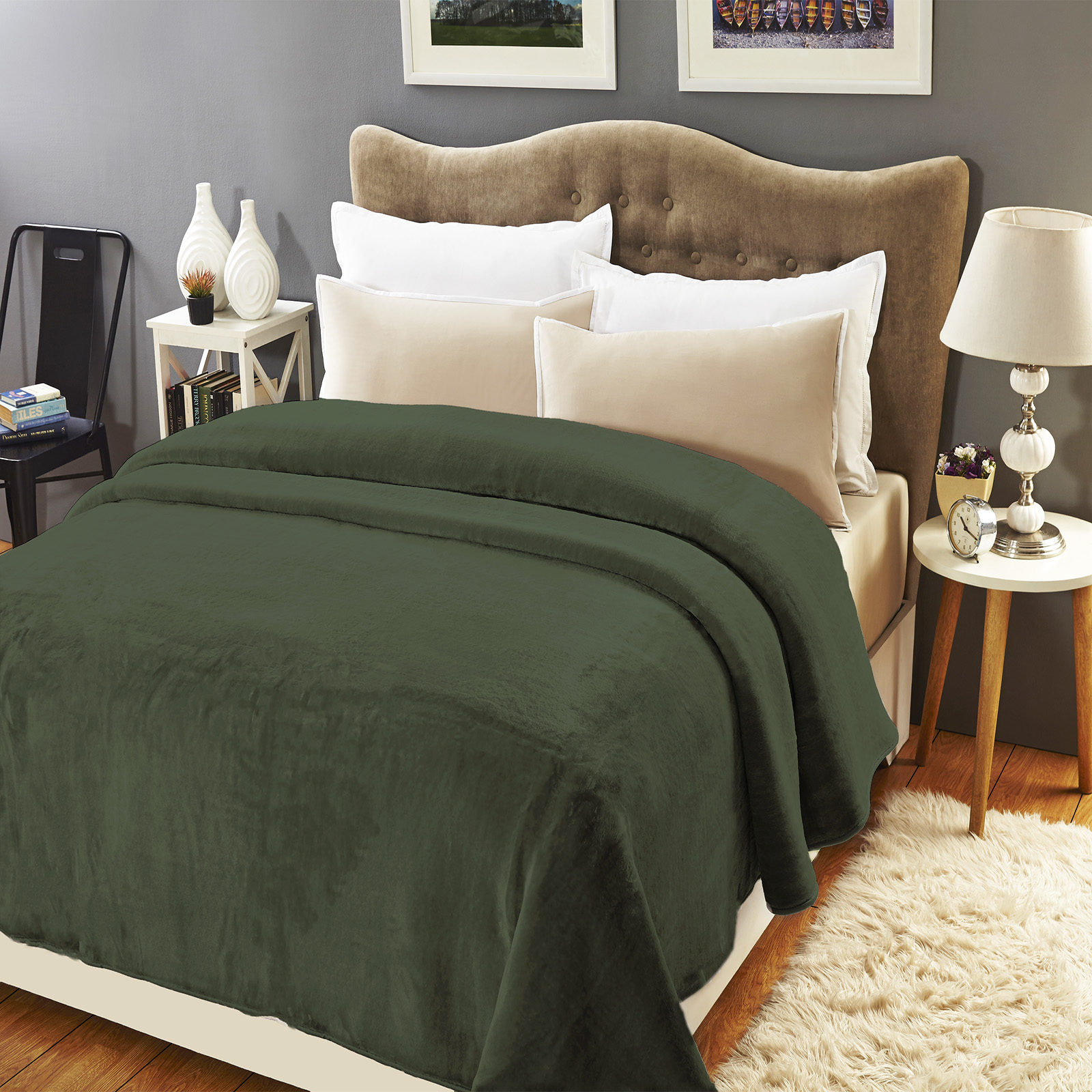 Mink Blankets Winter Weight Queen/King Size | Agave