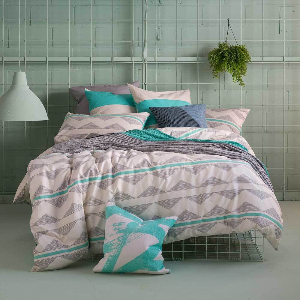 KAS Evan Multi Queen Bed Quilt Cover Set