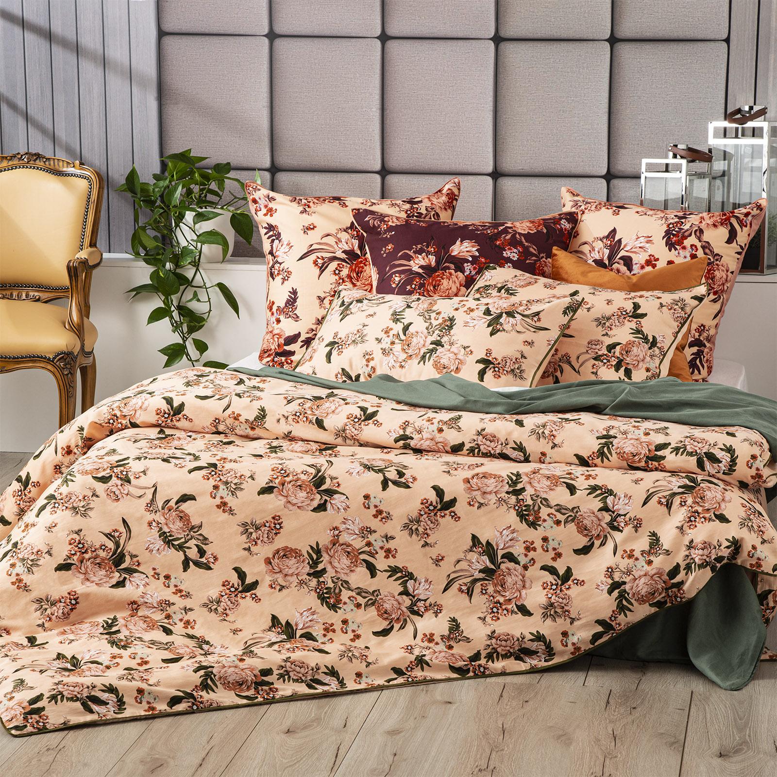 Renee Taylor Secret Garden Quilt cover Set 300 Thread Count 100% Cotton