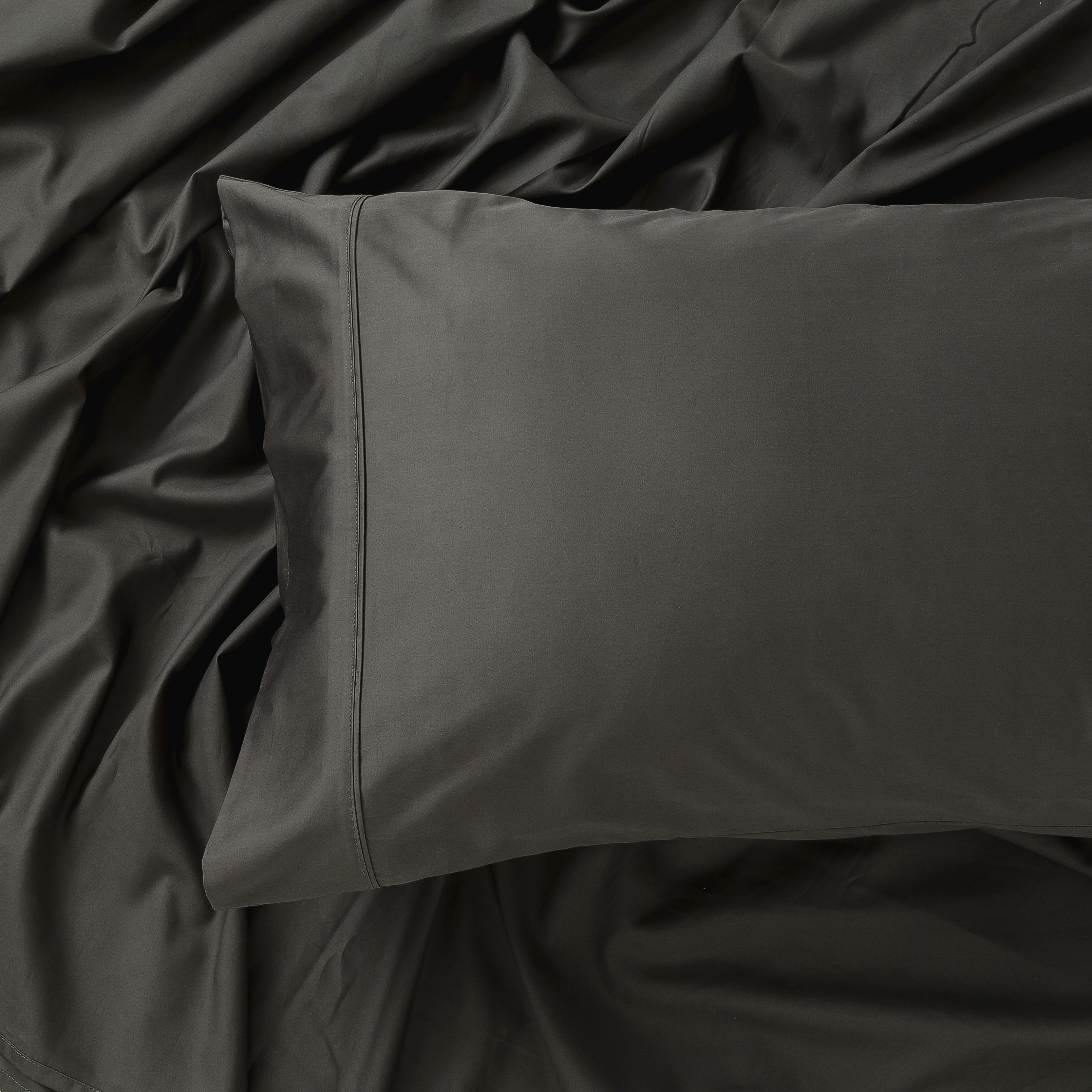In2Linen 500TC Bamboo Cotton Sheet Set   Charcoal