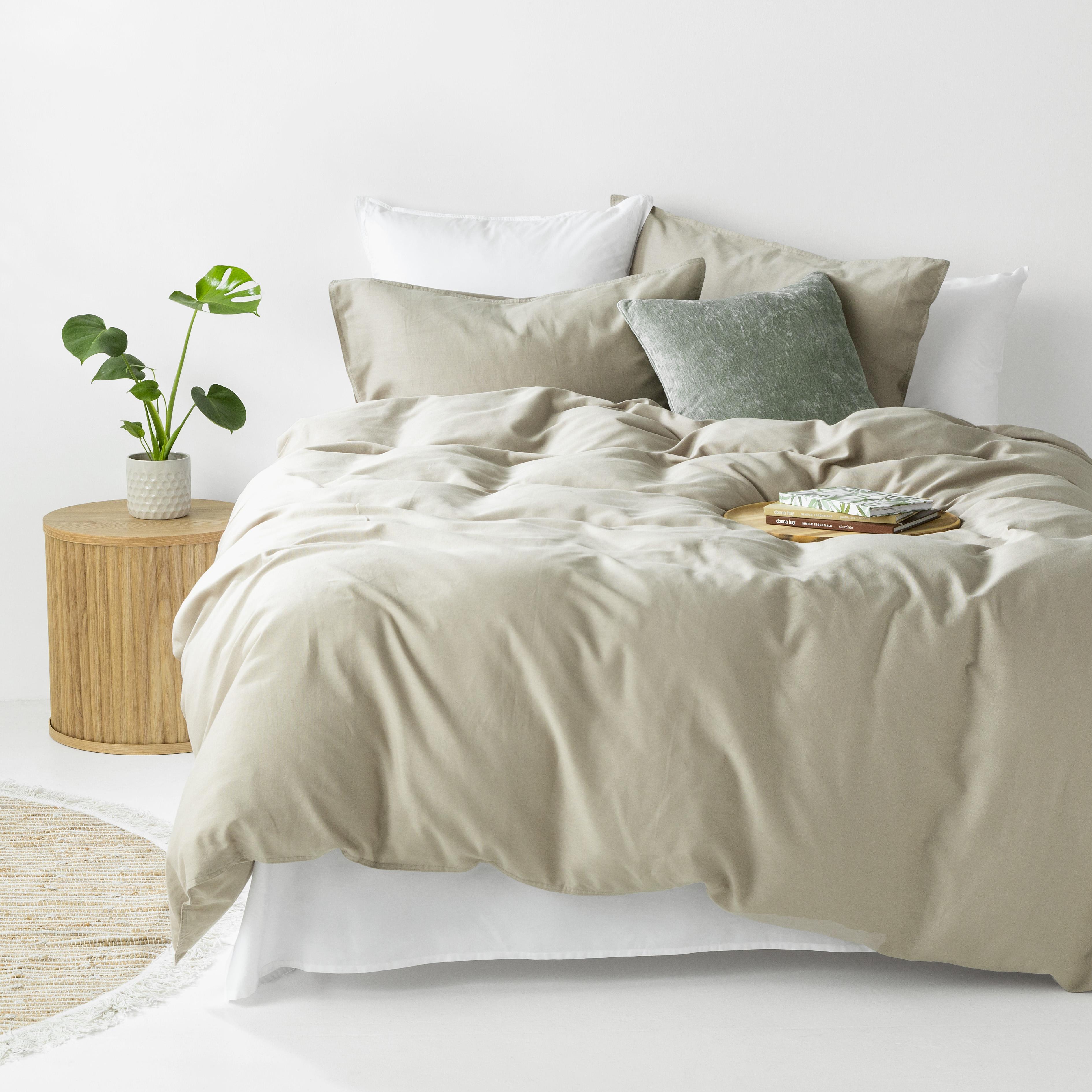 In2Linen Grange 100% Cotton Quilt Cover Set | Colour - Linen