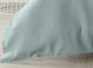 In2Linen Waffle Weave Pure Cotton European pillow Case I Fog Green