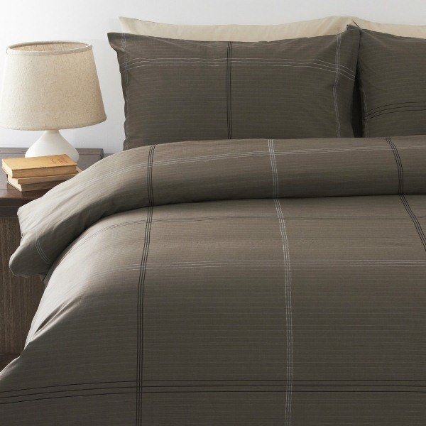 In2Linen Bentley Mocha  Quilt Cover Set Super King Bed