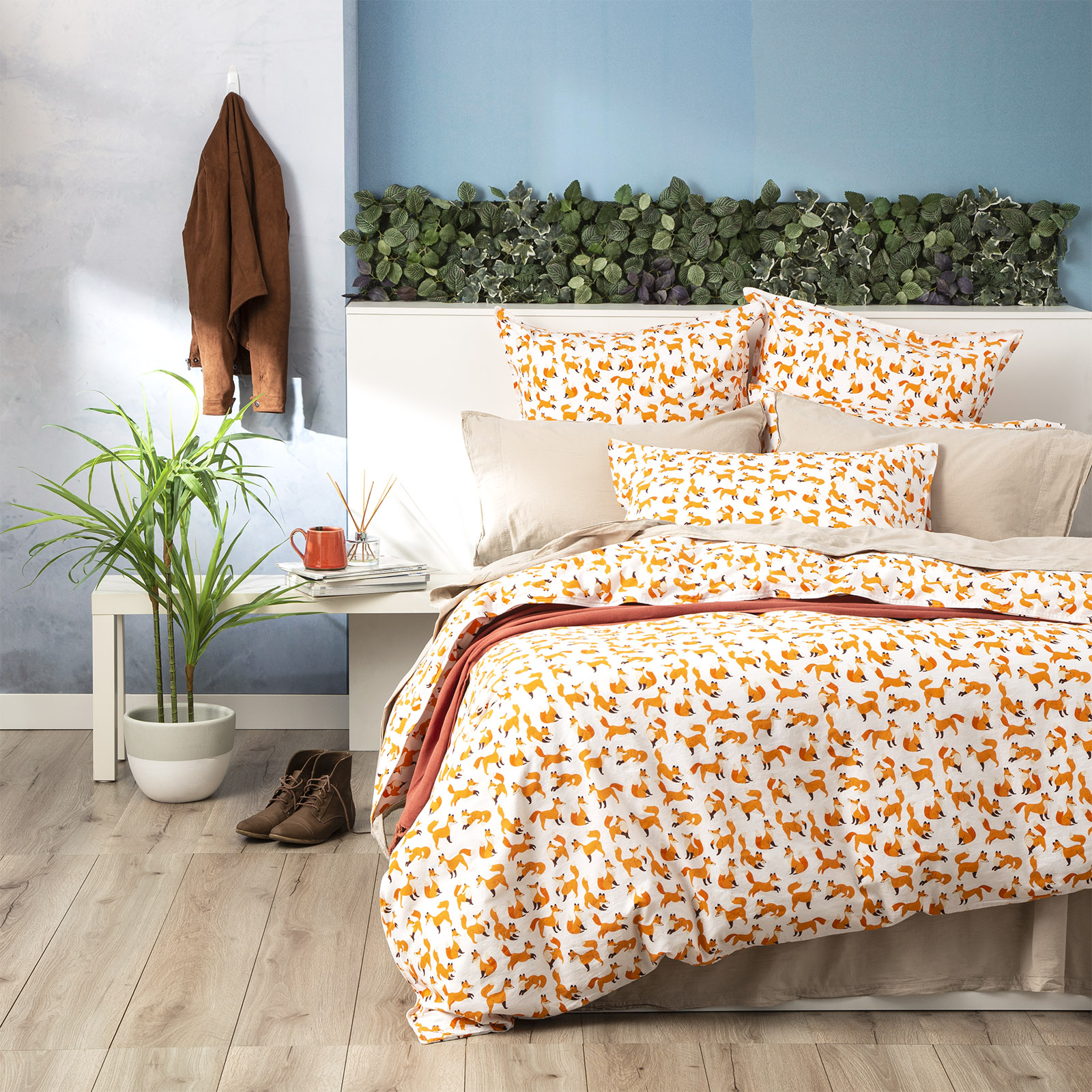 Renee Taylor Cotton Vintage Washed Quilt cover set Novelty | Foxy