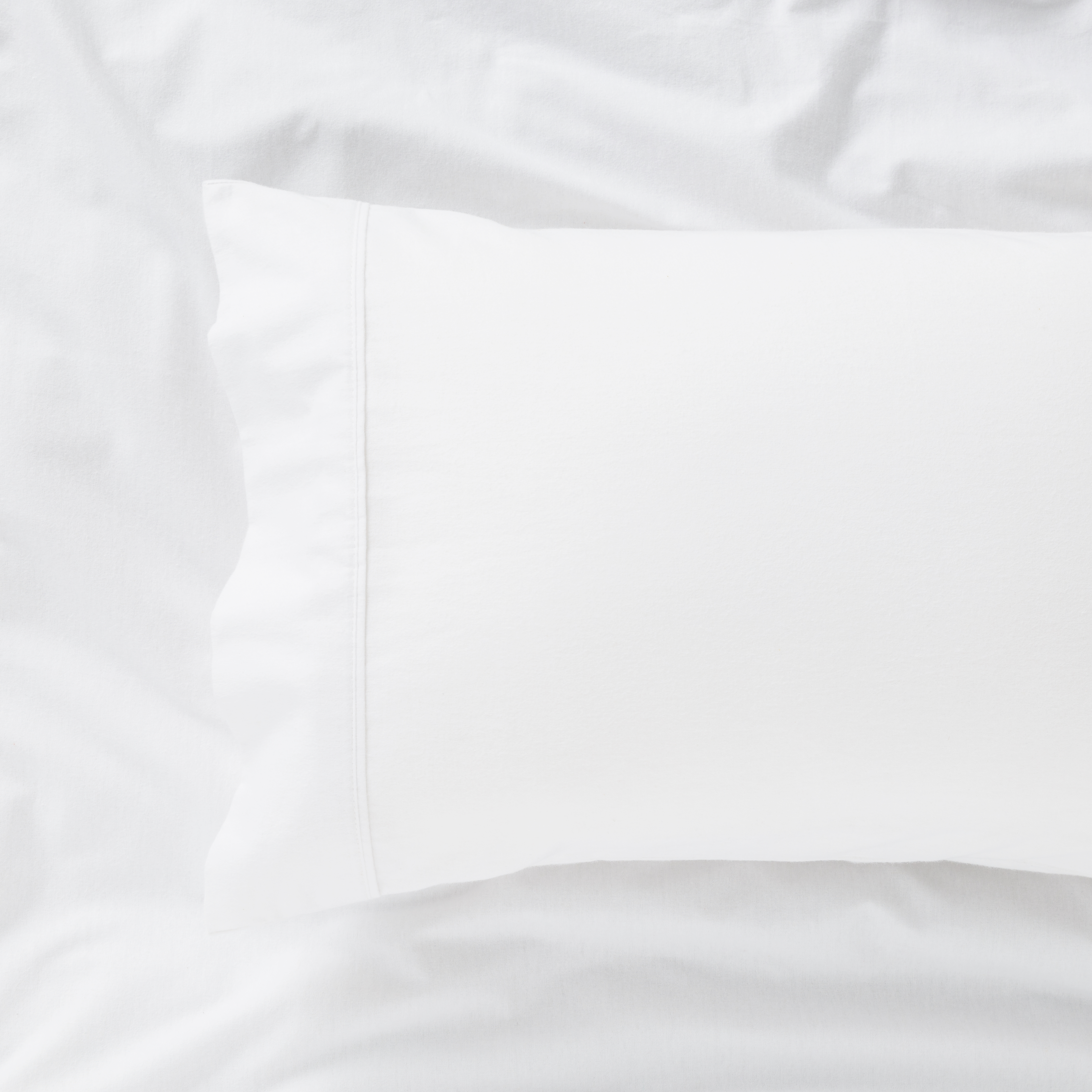 IN2LINEN Flannel Sheet Set Egyptian Cotton | White