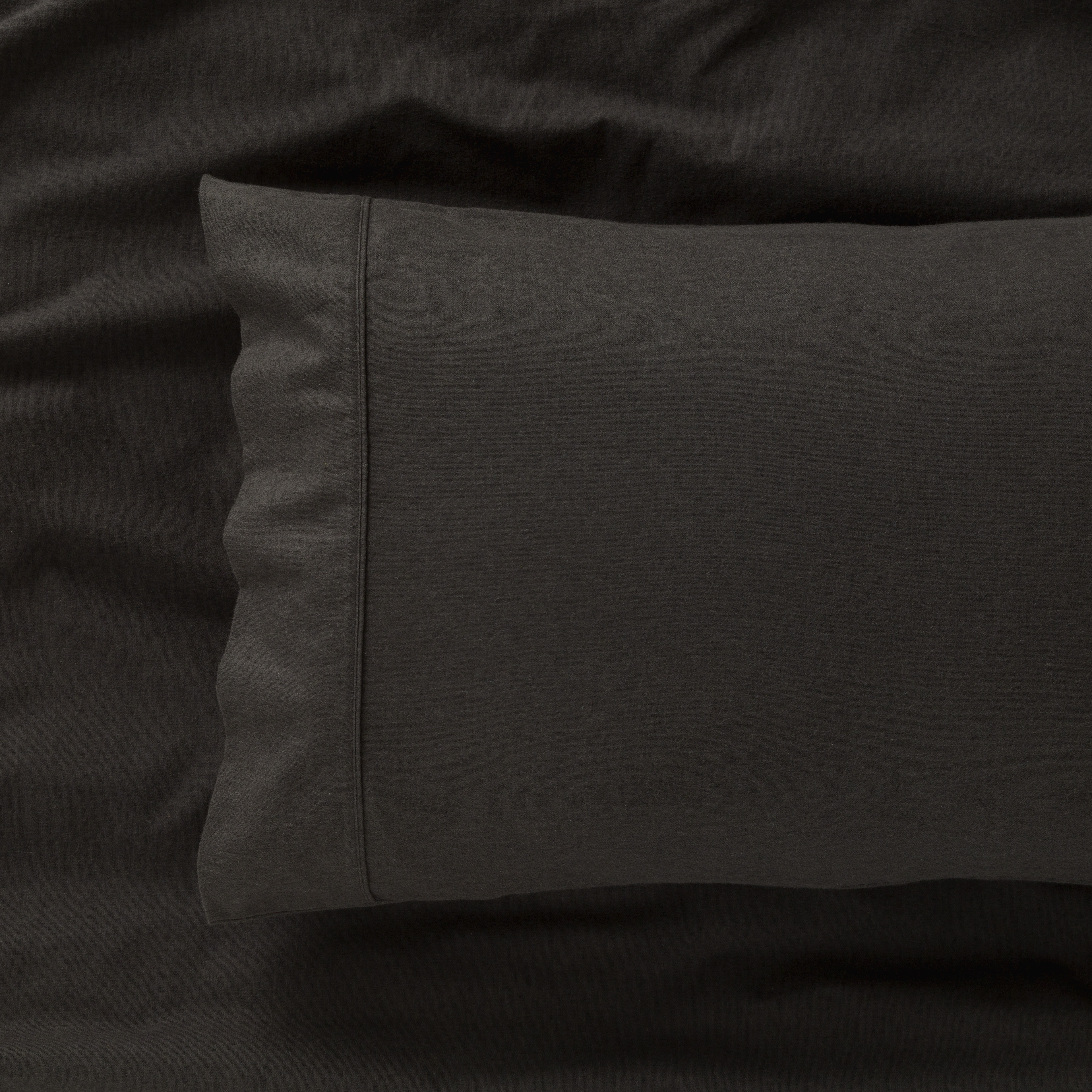 IN2LINEN Flannel Sheet Set Egyptian Cotton   Charcoal