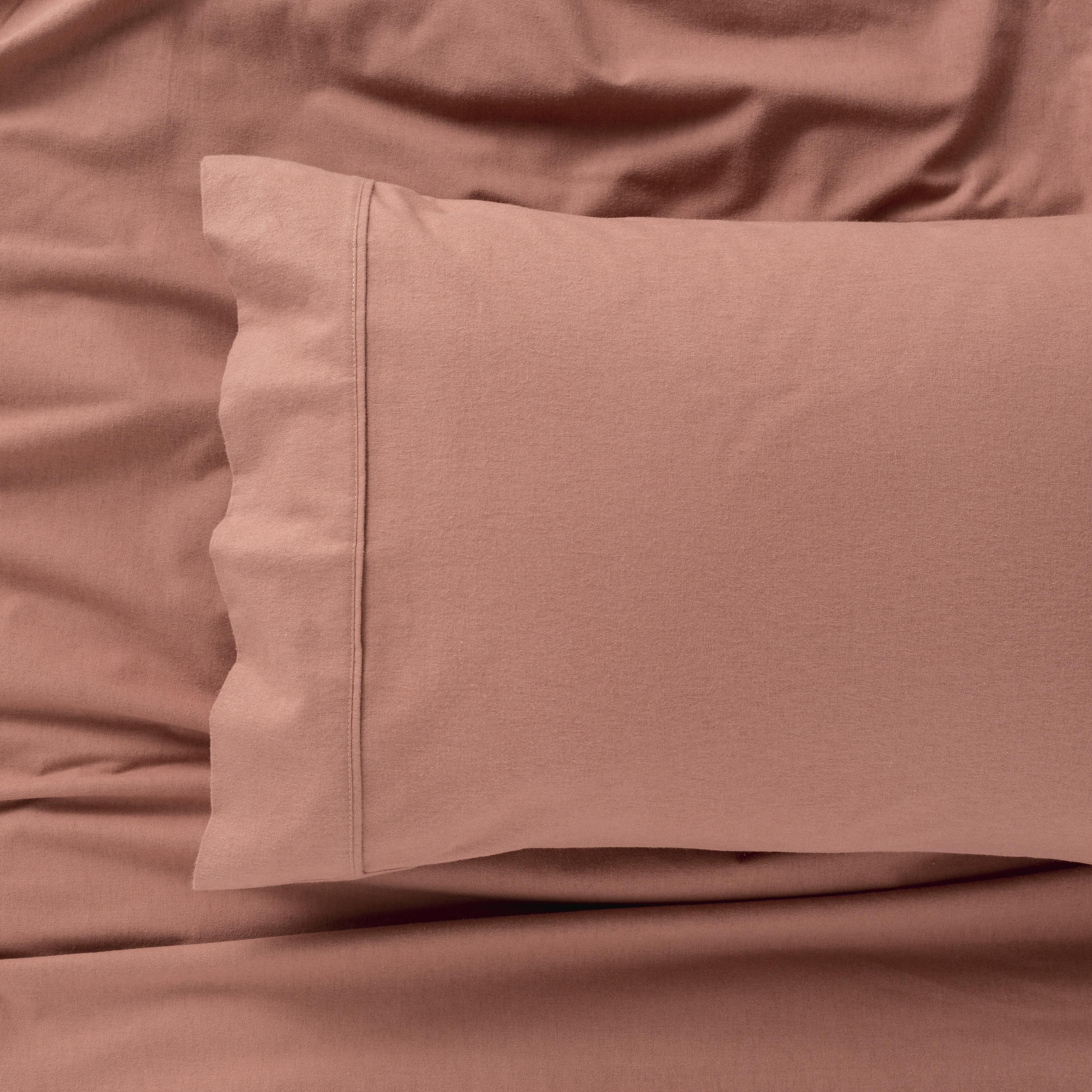 IN2LINEN Flannel Sheet Set Egyptian Cotton | Rust/Brick