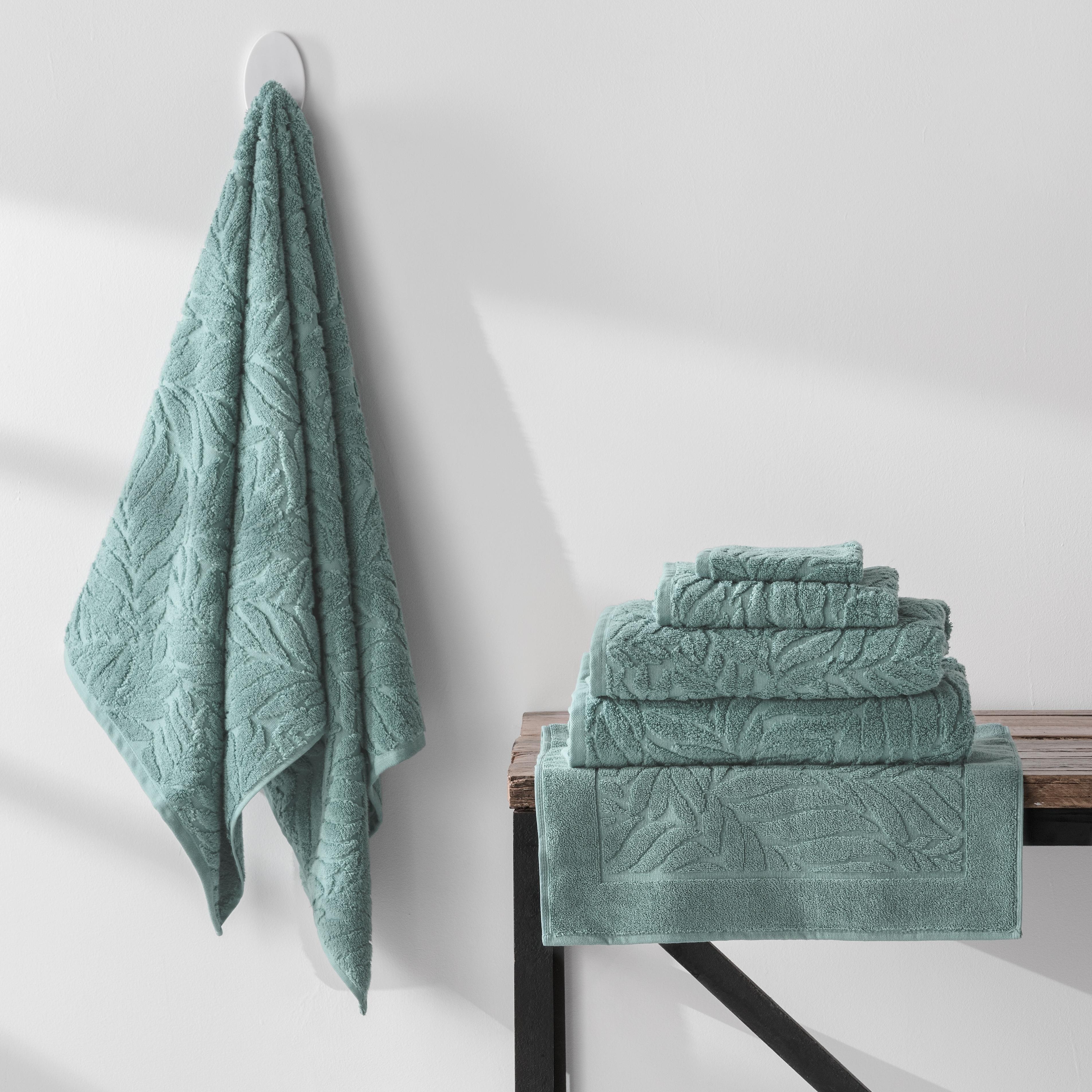 Turkish Cotton Towels Zero Twist Palm  Storm