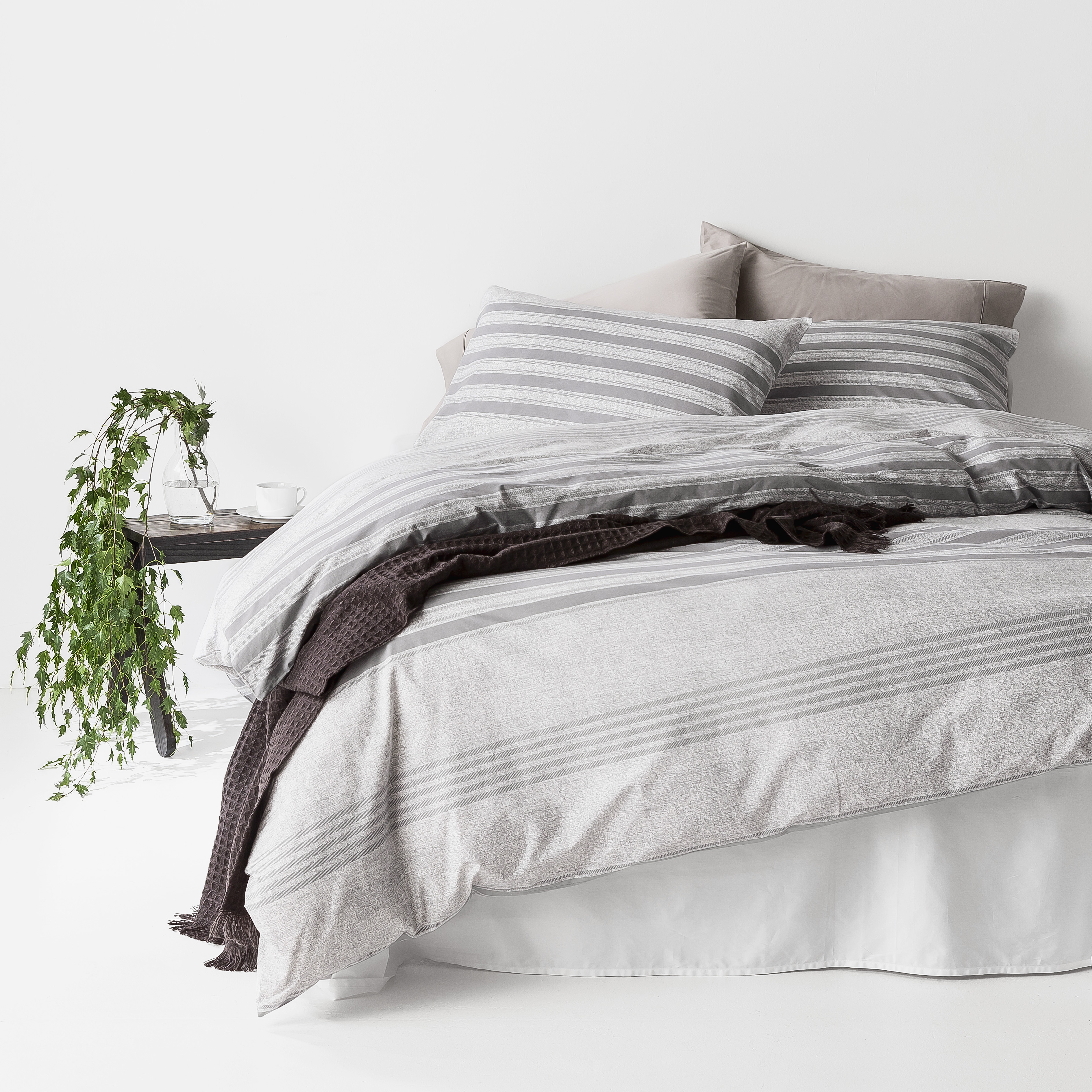 In2linen Oliver 100% Organic Cotton  Quilt Cover Set | Grey