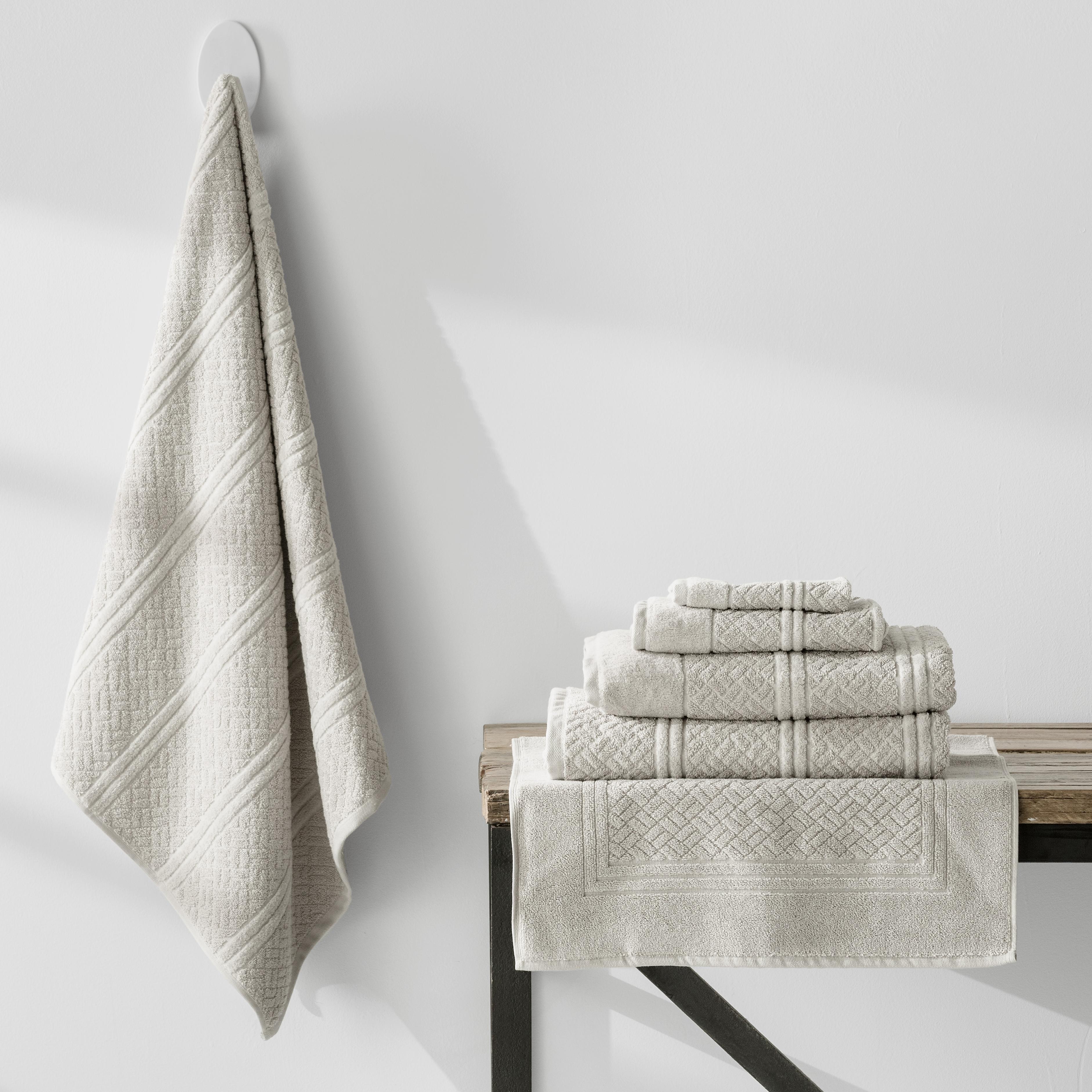 7 Piece Turkish Cotton Towels Jaquard  Weave | Stone
