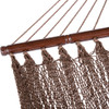 Lazy Daze Hammocks 51 Inch Caribbean Hammock Hand Woven Polyester Rope Outdoor Patio Swing Bed (Brown)