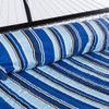 """55""""Double Quilted Fabric Hammock Swing with Pillow, Blue Stripe"""