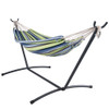 Lazy Daze Hammocks Portable Double Size Canvas Hammock with Carry Bag,450 Pounds Capacity (Navy Blue) ?-