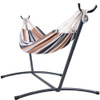 Lazy Daze Hammocks Portable Double Size Canvas Hammock with Carry Bag, 450 Pounds Capacity, Stand Not Included (Desert Stripe)