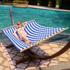 Lazy Daze Hammocks 58 Inch Double Size Pillow Top Hammock Swing Bed with Spreader Bar Heavy Duty for Two Person, 450 lbs Weight Capacity