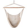 Hanging Caribbean Hammock Chair, Soft-Spun Cotton Rope, 40 Inch, Hardwood Spreader Bar Wide Seat