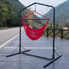 Lazy Daze Hammocks Deluxe Hammock Swing Chair Steel Stand with Heavy Duty Coated Frame, Capacity 450 Pounds, Black