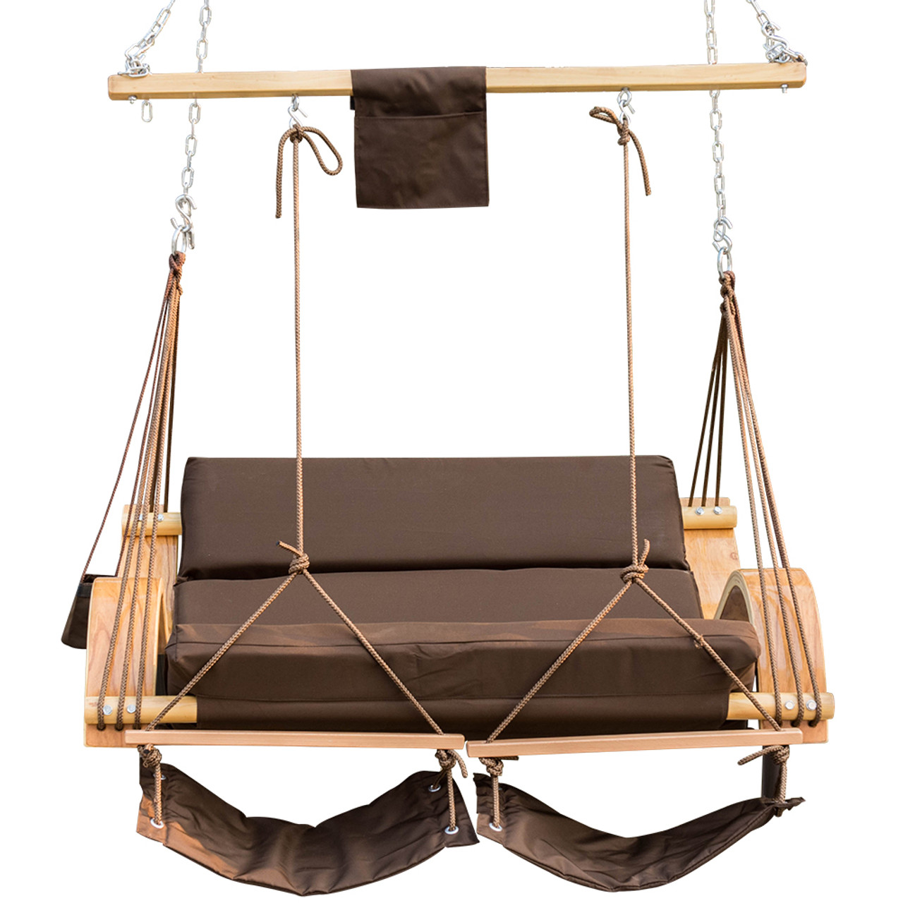 Lazy Daze Hammocks Deluxe Oversized Double Hanging Rope Chair Cotton