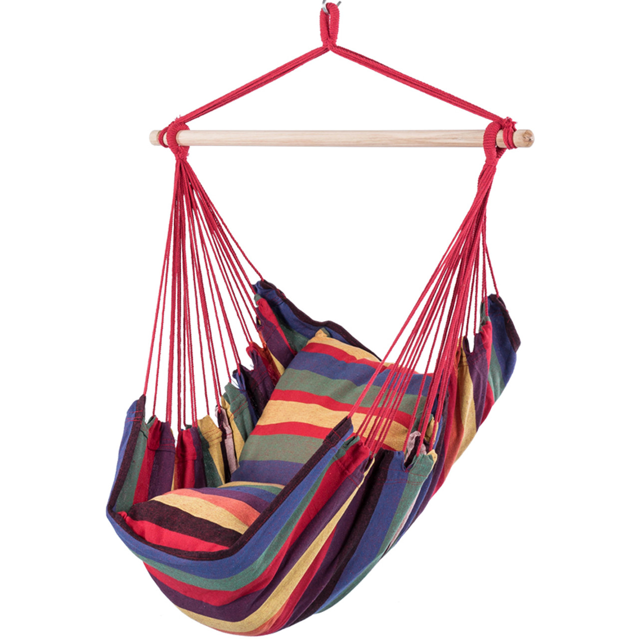 Lazy Daze Hammocks Hanging Rope Hammock Chair Swing Seat With 2 Seat Cushions Weight Capacity 300