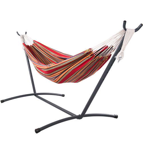 Heady Duty Coated Hammock Stand 9FT Space Saving Portable Hammock Stand with Carry Bag