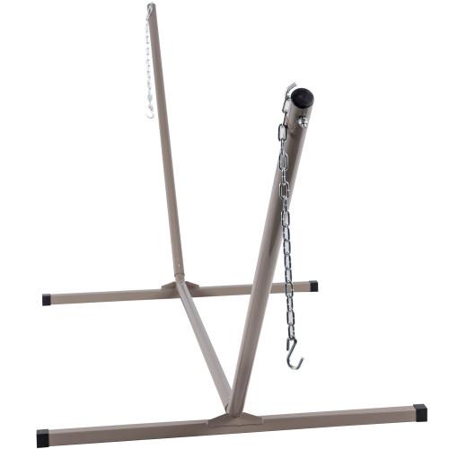 Lazy Daze Hammocks 15 Feet Heavy Duty Steel Hammock Stand with Hooks and Chains, for Spreader Bar Hammocks, 450 Pounds Capacity (Grey)
