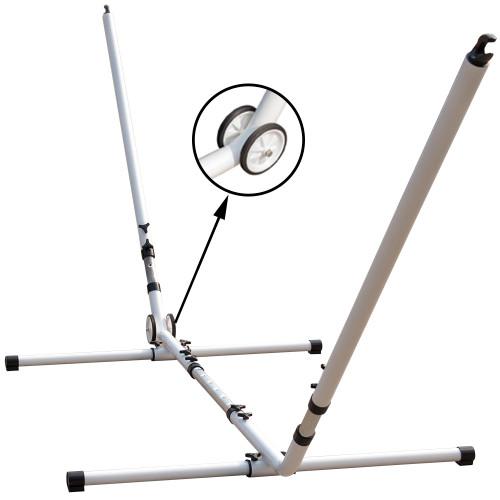 Lazy Daze Hammocks Adjustable Steel Hammock Stand with Wheels,Fit 9-12FT Hammocks (White)