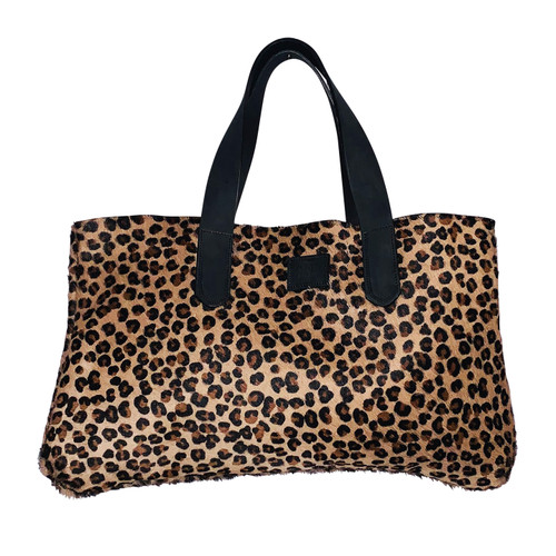Leopard Cow Hide Handbag