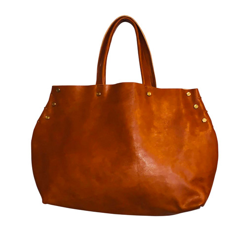 Chestnut Leather Hobo Tote