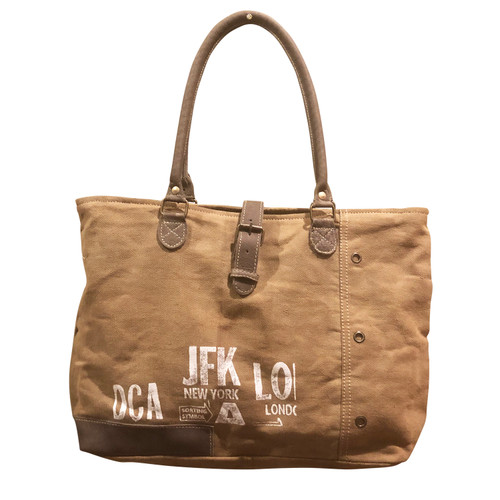 Leather Handle JFK Tote