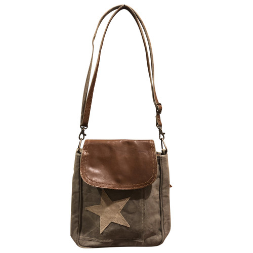 Star Crossbody with Leather Flap