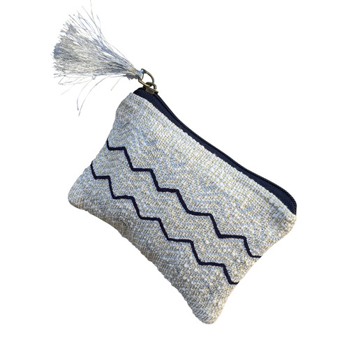 Black White Zig Zag Coin Purse