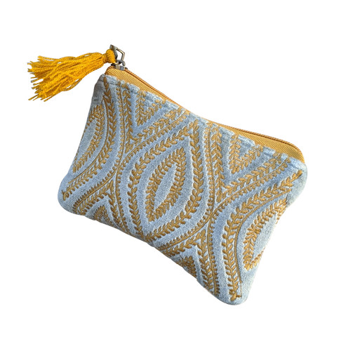 Gold Turquoise Ovals Coin Purse