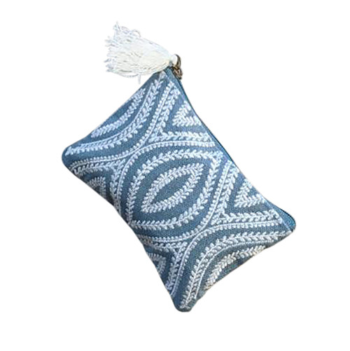 Blue White Eyes Coin Purse