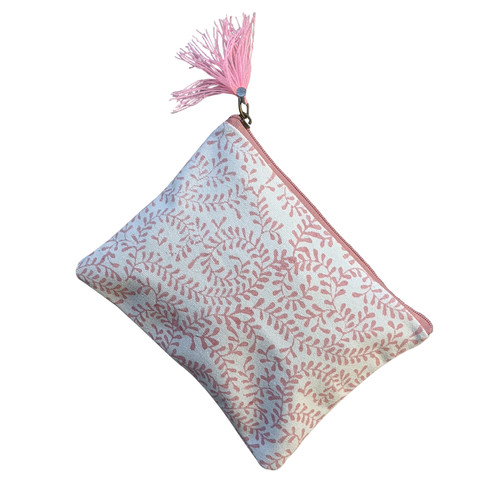 Pink Blue Swirls Medium Pouch