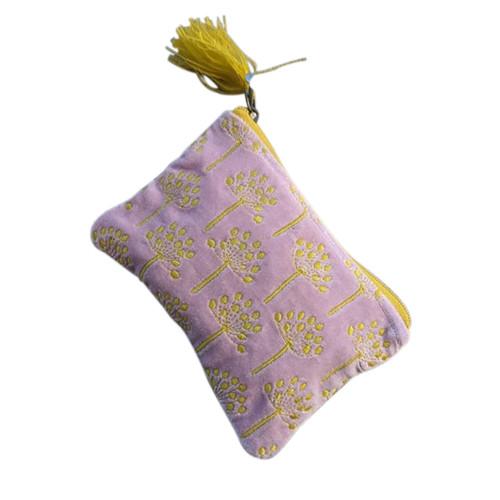 Purple Gold Dandelion Coin Purse