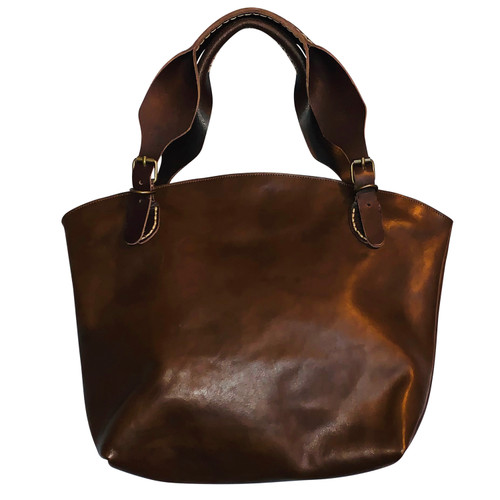 Smooth Chocolate Leather Handbag