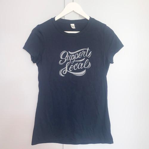 "Crewneck T-shirt ""Support Local"""
