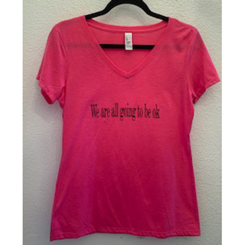 Pink Okay V-Neck Shirt