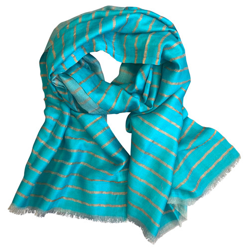 Turquoise Wool Scarf