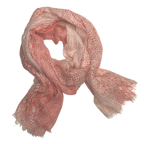 Dainty Floral Cotton Scarf