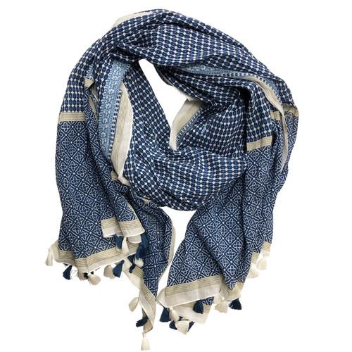Nira Fringed Cotton Wrap