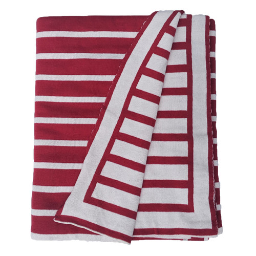 Striped Knitted Throw