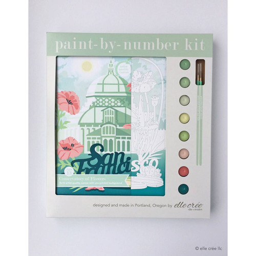 Conservatory of Flowers Paint-by-Number Kit
