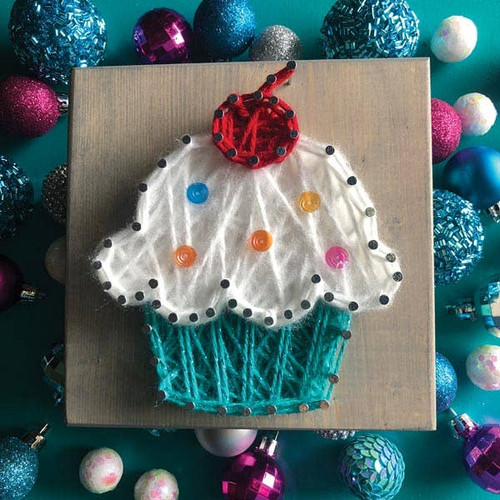 Cupcake Mini String Art Kit - DIY