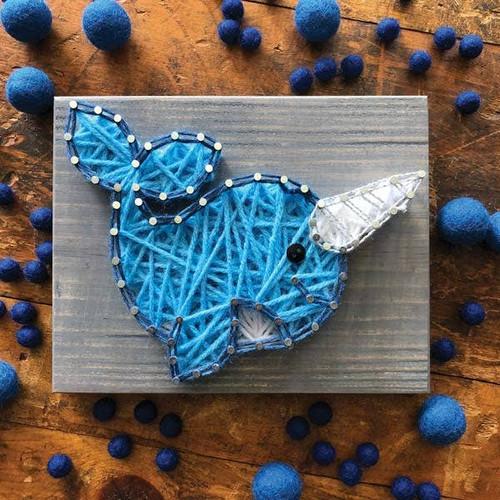 Narwahl Mini String Art Kit - DIY