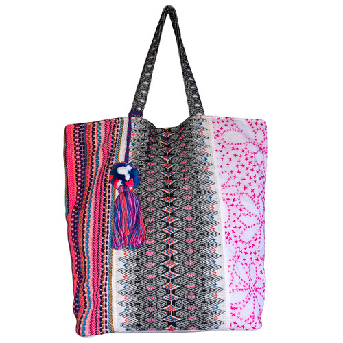 All About Pink Tote with Tassel