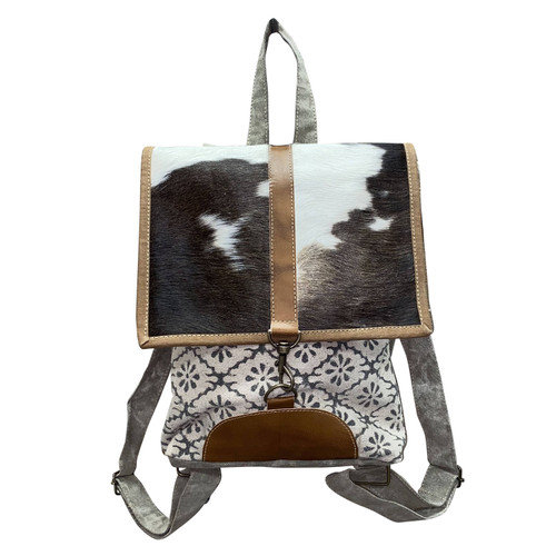 Handblocked Tapestry with Hide Flap Backpack
