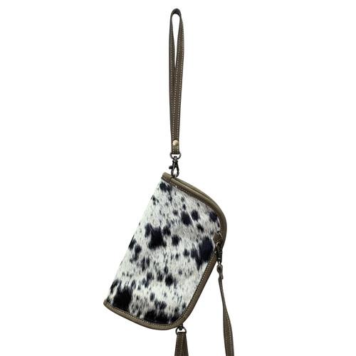 Leather Crossbody Wrist Wallet Speckled