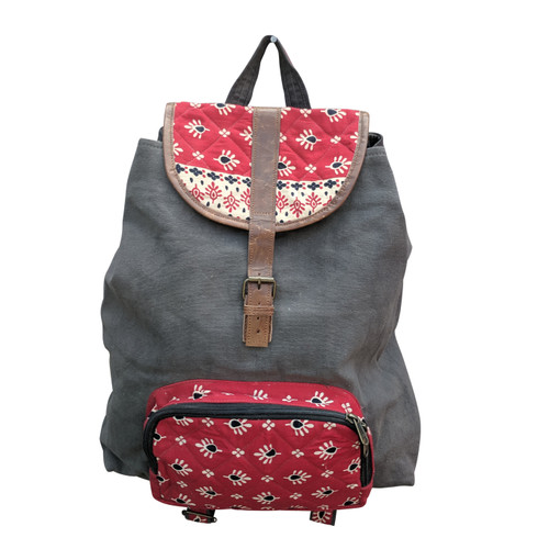 Red Quilt Backpack